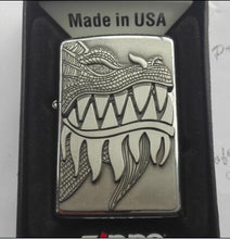 Load image into Gallery viewer, Zippo Lighter - Flaming Dragon Brushed Chrome