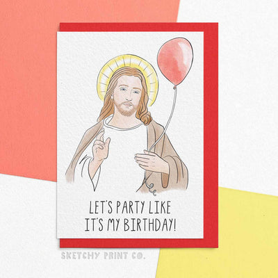 Jesus Funny Rude Silly Christmas Cards boyfriend girlfriend unique gift unusual hilarious illustrated sketchy print co