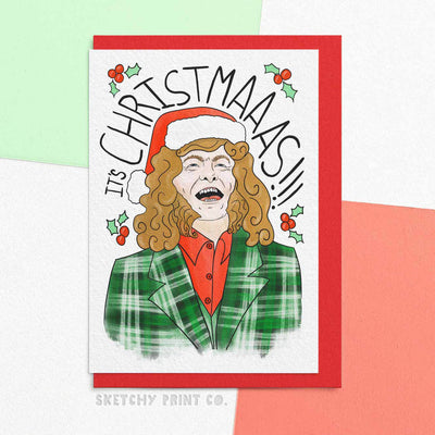 Noddy Funny Christmas Cards boyfriend girlfriend unique gift unusual hilarious illustrated sketchy print co