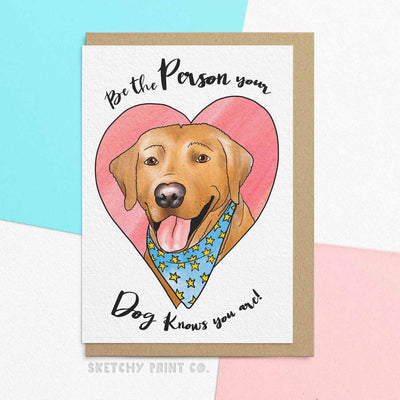 Funny Birthday Friend Cards Dog Mom boyfriend girlfriend unique gift unusual hilarious illustrated sketchy print co