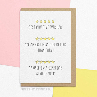 Funny Mother's Day Cards Mom Mum unique gift unusual hilarious illustrated sketchy print co