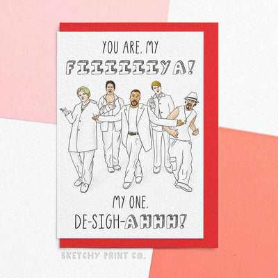 Backstreet 90s y2k Funny Rude Silly Valentine's Day Cards boyfriend girlfriend unique gift unusual hilarious illustrated sketchy print co