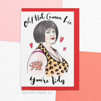 Nessa Gavin & Stacey Funny Rude Silly Valentine's Day Cards boyfriend girlfriend unique gift unusual hilarious illustrated sketchy print co