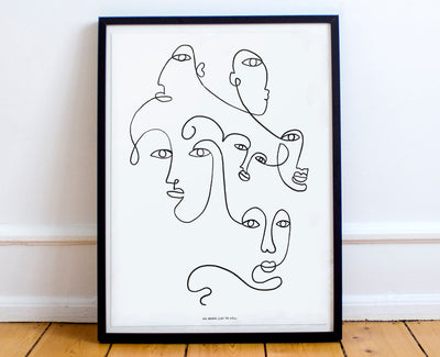 Art Print Line Drawing Gallery Wall Decor Wall Art Affordable Art