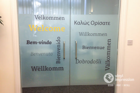 Welcome window graphics