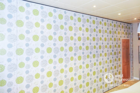 Patterned wall mural