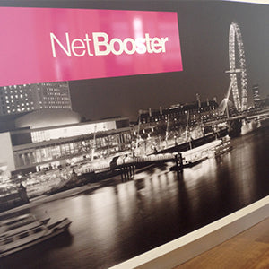 Office rebrand wall graphics