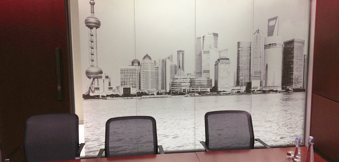 Window Skyline Manifestation In Huge Boardroom
