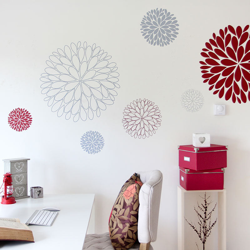 abstract wall stickers