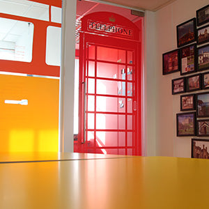 Inspiring Environmental graphics for technology company in London, collaborative working space.