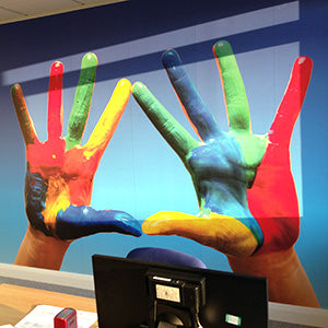 Wall Mural designed by Vinyl Impression for office in London