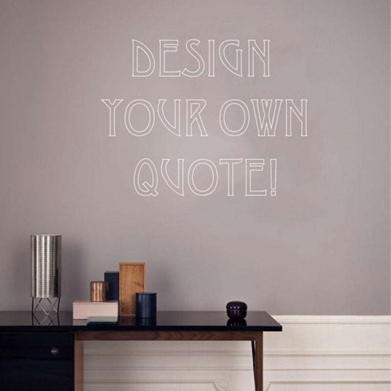 design a quote wall stickers
