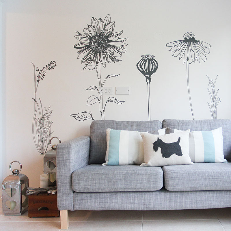 hand drawn wall stickers