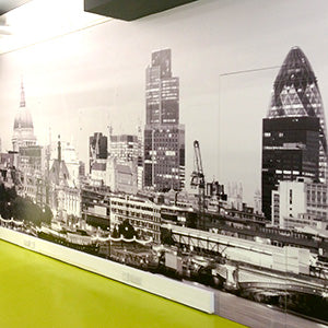 London investment firm uses wall graphics to brand their space