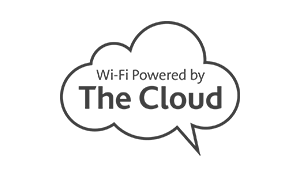 The Cloud Logo wall decal environmental wall graphics