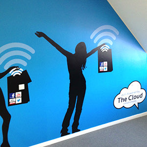 environmental graphics wall design for office design space