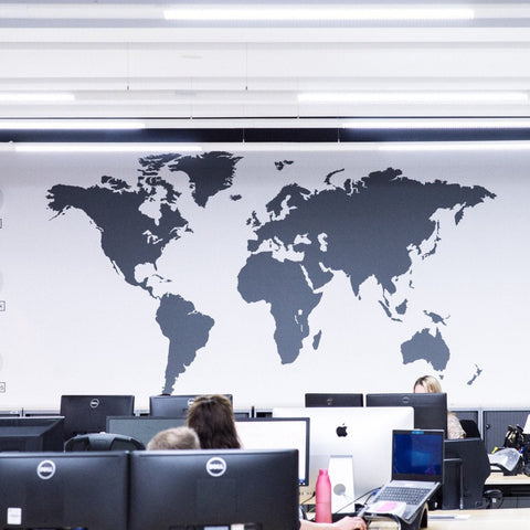 Extra Large World Map Vinyl Wall Sticker