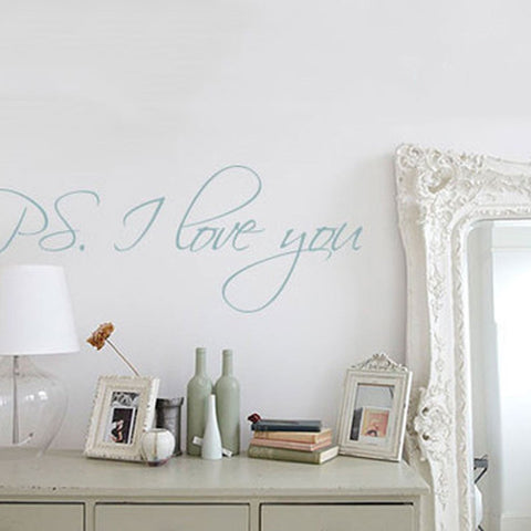 Ps I love you wall decal. Removable wall sticker for your home