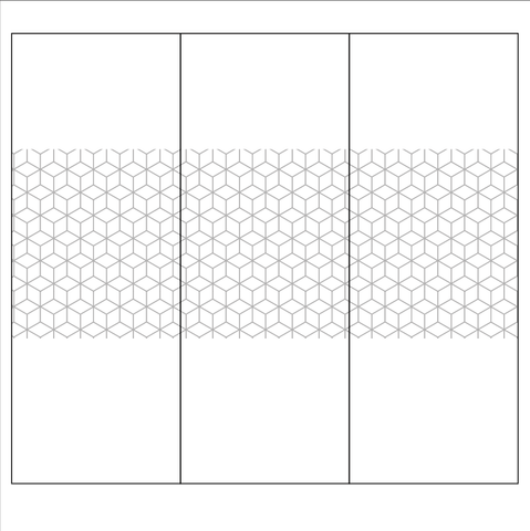 Hexagonal pattern window design for office window designs