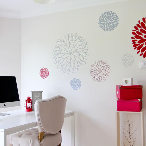 Abstract Flowers Vinyl Wall Sticker in Abstract by Vinyl Impression