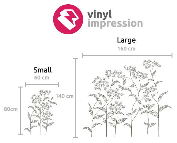 Abstract Plant Vinyl Wall Sticker in  by Vinyl Impression
