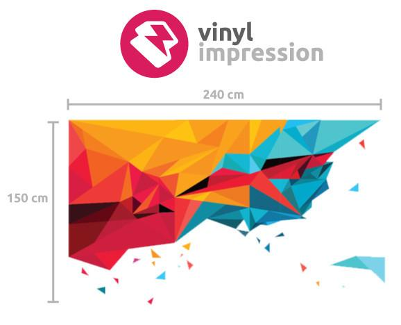 Abstract triangles in  by Vinyl Impression