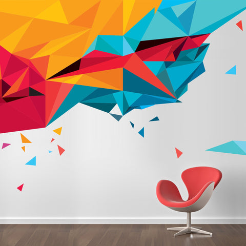 Abstract and geometric pattern wall sticker decal for home and offices. Wall transfers and large environmental graphics for offices and homes
