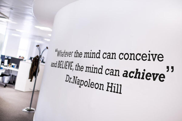 Achieve motivational quote wall sticker in Reception by Vinyl Impression