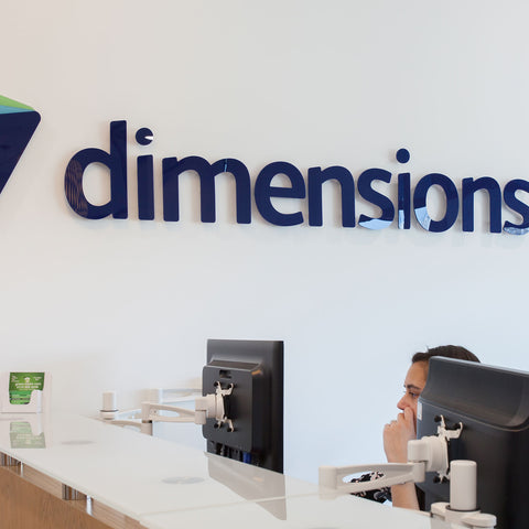 Acrylic Logo 3D Sign for offices behind reception 5mm deep