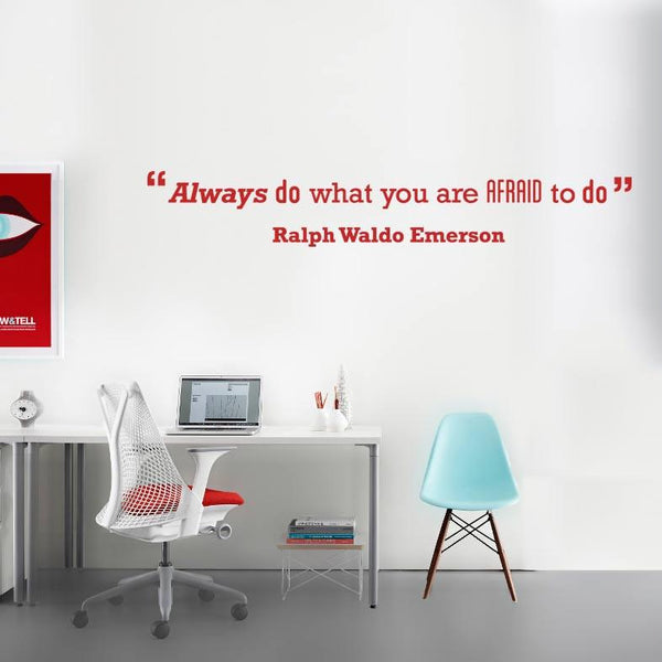 Afraid' Motivational Quote Wall Sticker in Office by Vinyl Impression