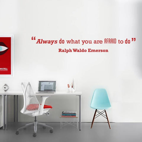 Ralph Waldo Emerson motivational quote wall sticker decal for homes and offices
