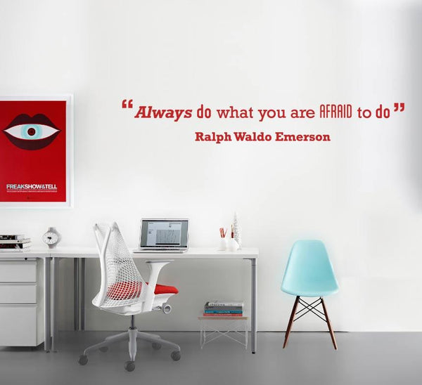 Afraid' Motivational Quote Wall Sticker in  by Vinyl Impression