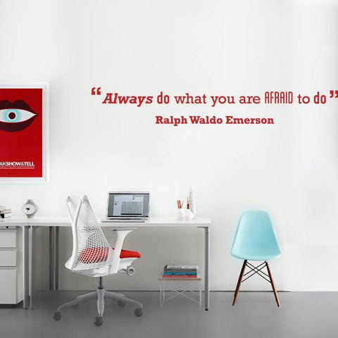 Motivational quote wall sticker decal by vinylimpression.co.uk