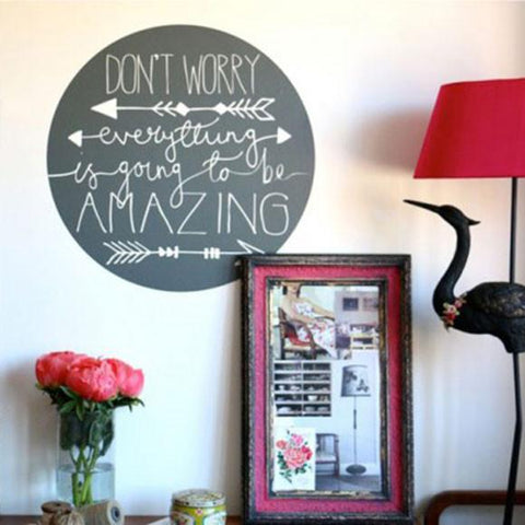Typographic word based wall art sticker decal