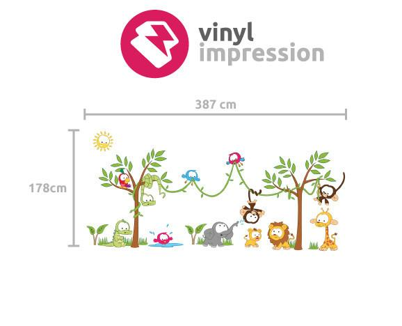 Amazon Jungle scene Wall Sticker in  by Vinyl Impression
