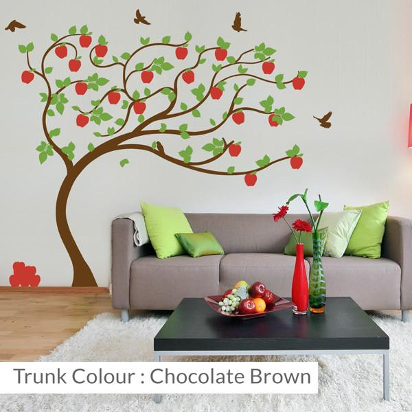 apple tree bending wall sticker for homes and kids | vinyl impression