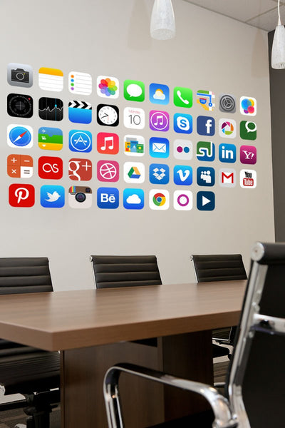 Phone app wall stickers in  by Vinyl Impression