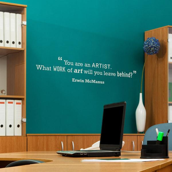 Artist Motivational Quote Wall Sticker in Home by Vinyl Impression