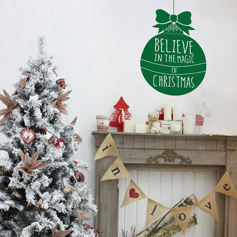 Christmas bauble wall decoration for the winter festive season