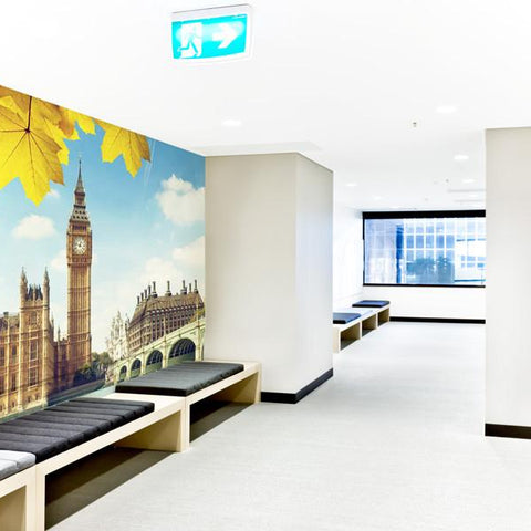 Big Ben and houses of parliament on office wall mural