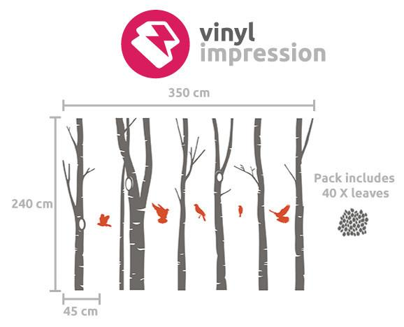 Birch Tree Forest Wall Sticker in Bestsellers by Vinyl Impression