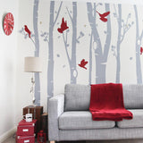 Birch Tree Forest Wall Sticker in  by Vinyl Impression
