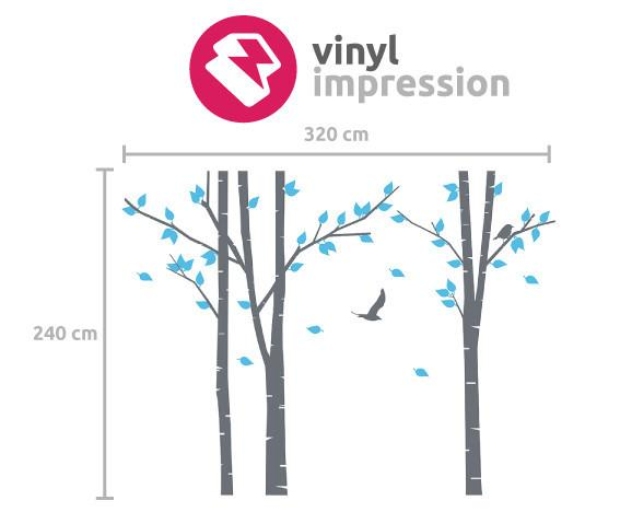 Silver Birch Trees Vinyl Wall Sticker in Popular by Vinyl Impression