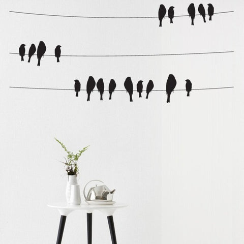 Birds on a wire wall art sticker for home decoration