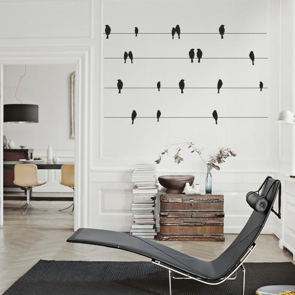 Birds on a wire Vinyl Wall Sticker in Home by Vinyl Impression