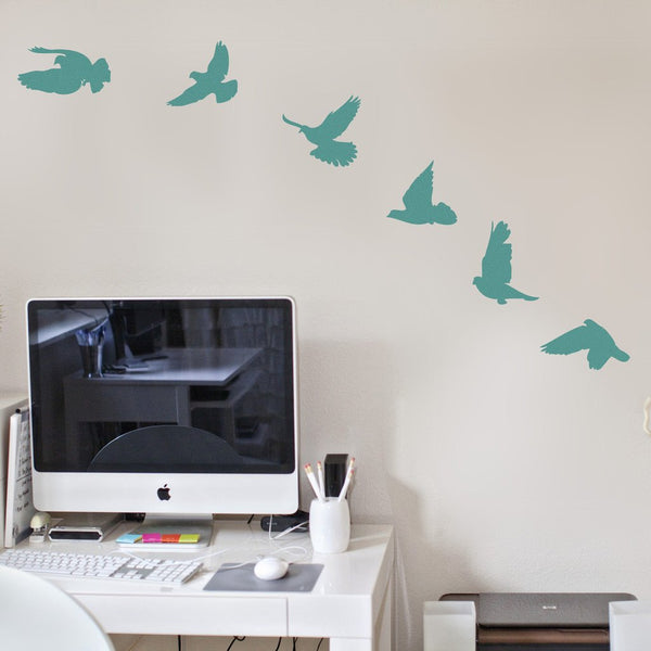 Birds Wall Sticker in Bedroom by Vinyl Impression