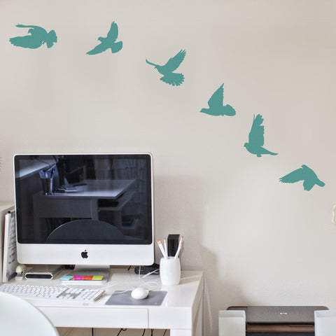 Birds Wall Sticker - Removable Vinyl Stickers of birds. Inspired by nature wall art for homes