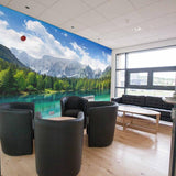 Premium Mountain Lake Wall Mural (Laminated) in  by Vinyl Impression