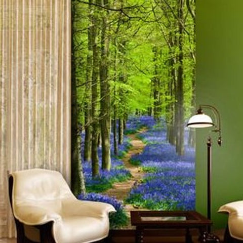 Office  Decor  - Bluebell Forest mural