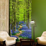 Bluebell Forest Wall Mural in  by Vinyl Impression
